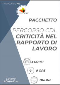 PERCORSO CDL - CRITICITÀ NEL RAPPORTO DI LAVORO