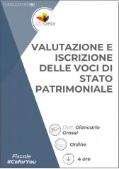 Valutazione e iscrizione delle voci di stato patrimoniale