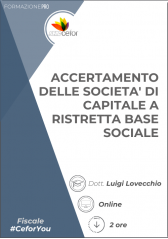 Accertamento delle Società di capitale a ristretta base sociale