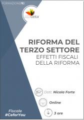 Riforma del Terzo Settore - Effetti fiscali della Riforma