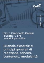 Bilancio D'esercizio: Principi Generali Di Redazione, Schemi, Contenuto, Modularità