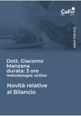 Novità Relative Al Bilancio - Pack