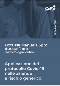 Applicazione del protocollo COVID-19 nelle aziende a rischio generico