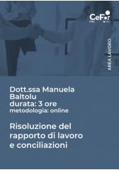 Risoluzione Del Rapporto Di Lavoro E Conciliazioni