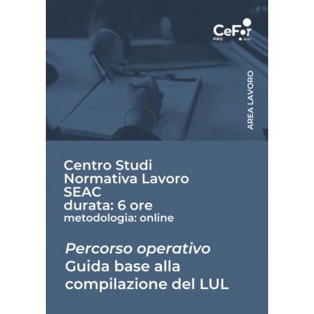 Percorso operativo: guida base alla compilazione del LUL