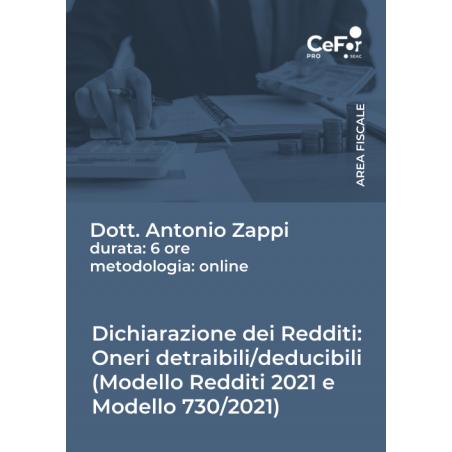 Dichiarazione dei Redditi Oneri Detraibili/Deducibili (Mod. REDDITI e Mod. 730)