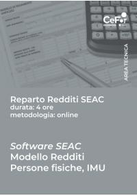 Software SEAC - Mod redditi persone fisiche, IMU - CORSO BASE NET 2021