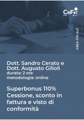Superbonus 110% - Cessione, Sconto In Fattura E Visto Di Conformità - Pack