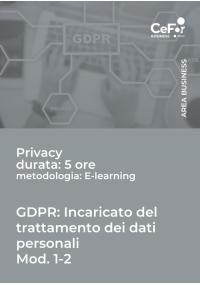 GDPR: Incaricato del trattamento dei dati personali - MOD.1 - 2