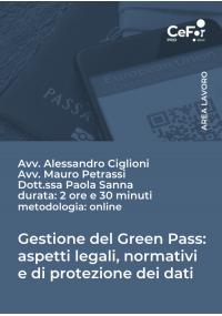 Gestione del Green Pass: aspetti legali, normativi e di protezione dei dati