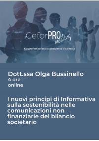 I nuovi principi di informativa sulla sostenibilità nelle comunicazioni non finanziarie del bilancio societario.